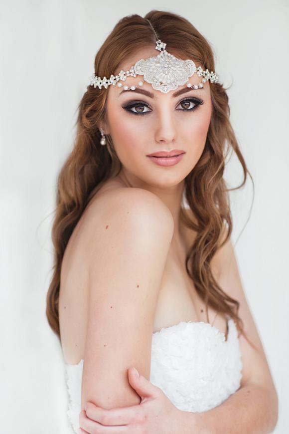 Marella Grecian Bridal Headpiece - www.perlejewellerymakeup.com.au
