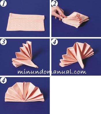 Como doblar una servilleta de tela mimundomanual - Origami con servilletas ...