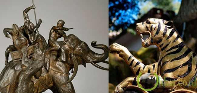 Ornamen gajah atau harimau