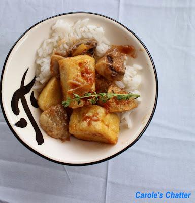 Garlic Tofu & Mushroom Stir Fry by Carole's Chatter