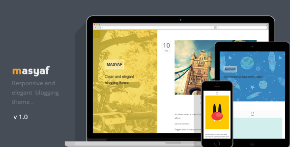 Responsive Tumblr Blogging Theme