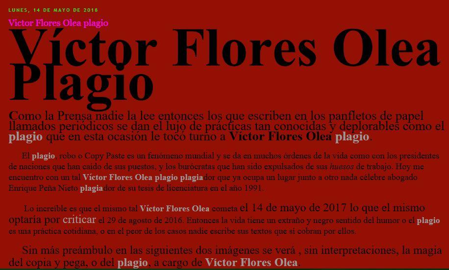Víctor Flores Olea plagio