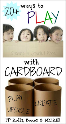 Cardboard crafts and activities for kids- play, create, upcycle!