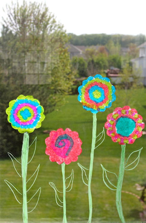Holly 39 s arts and crafts corner craft project tie dye for Flower arts and crafts