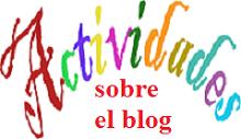 Actividades sobre el blog