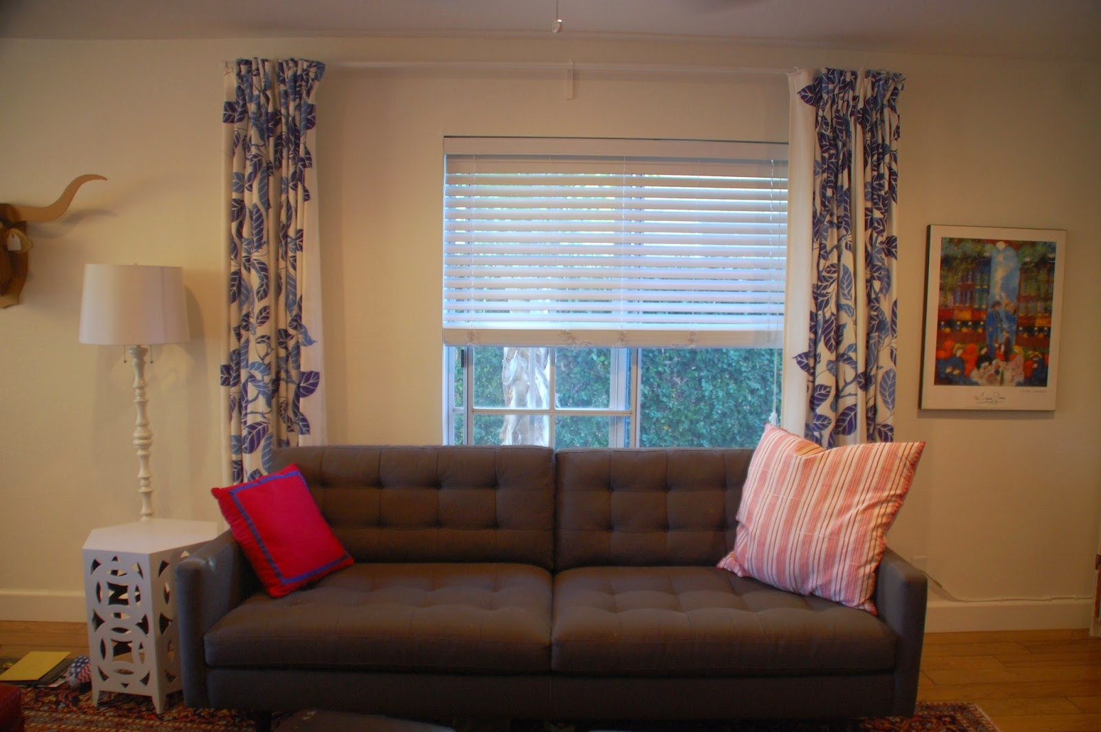 Lately I Have Been Debating Doing Away With The Curtains Completely Sofa Always Ends Up Pushed Against Wall Trapping Behind It