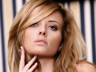 Blonde Girl Hair Soft Lips HD Wallpaper