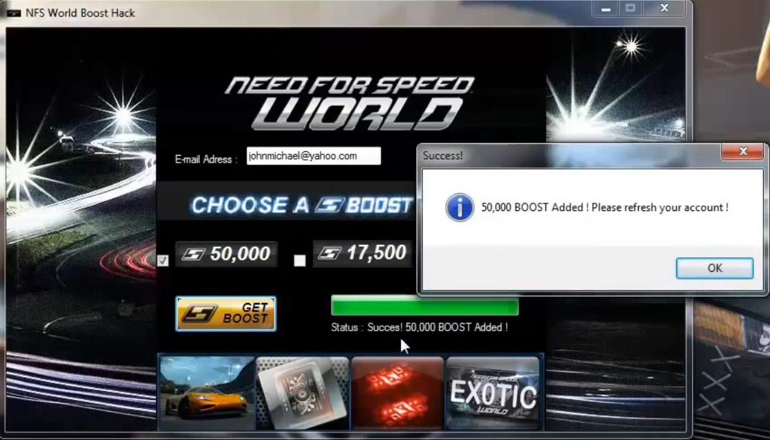 Hack speed boost