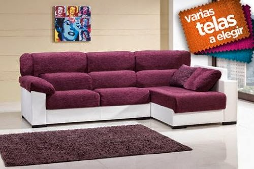Comprar elegante sof con chaise longue ofertas sofas for Ofertas chaise longue online
