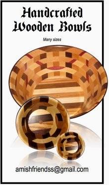 Amish-made Wooden Bowls