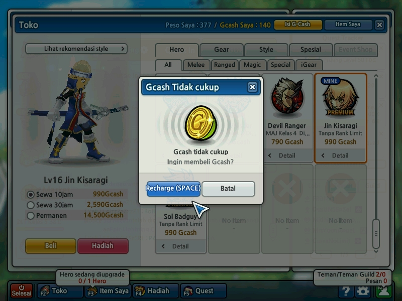 Cheat Dan Bug : Bug Lost Saga Hero Permanen NOT CHEAT!