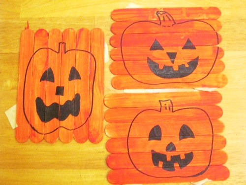 Halloween Popsicle Stick Crafts Preschool