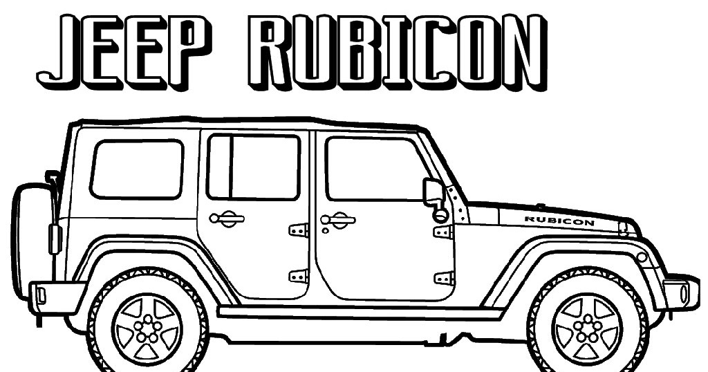 Jeep Rubicon Coloring Pages To