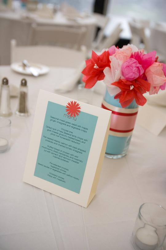 Red and Aqua Weddings The Perfect Blend