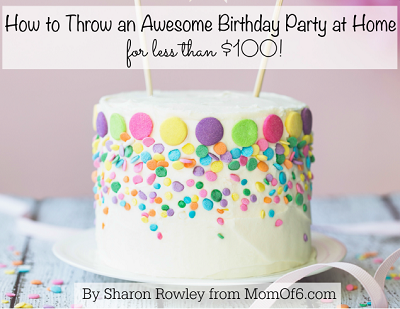 Kids Birthday Parties for Under $100