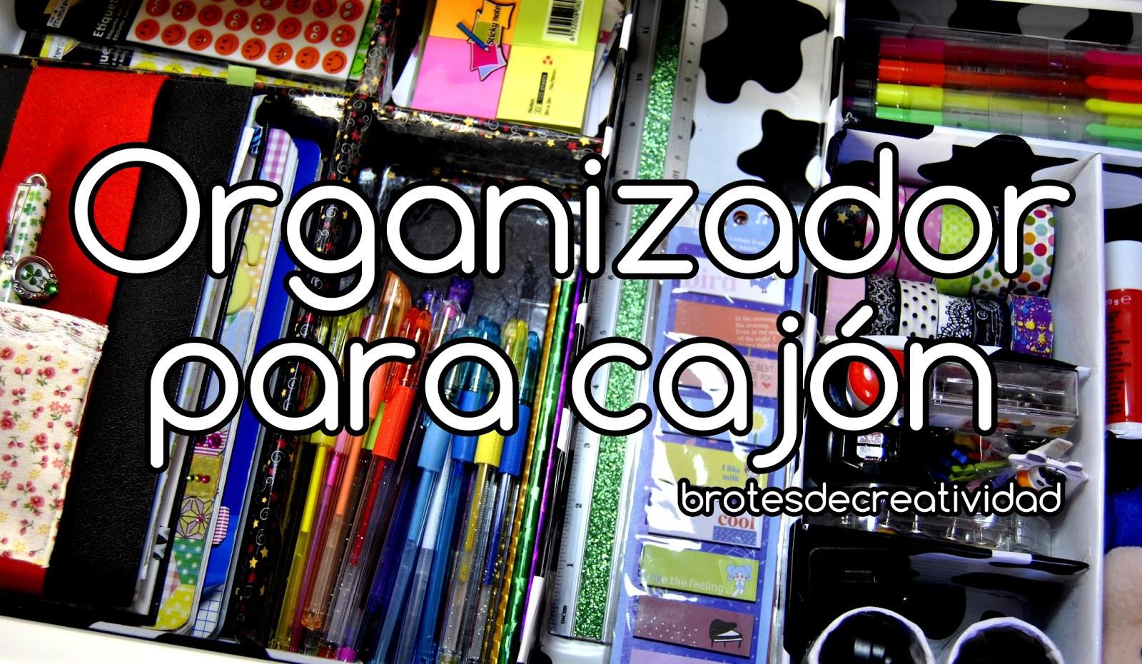 Brotes de creatividad organizador para caj n de cart n - Organizador cajon oficina ...