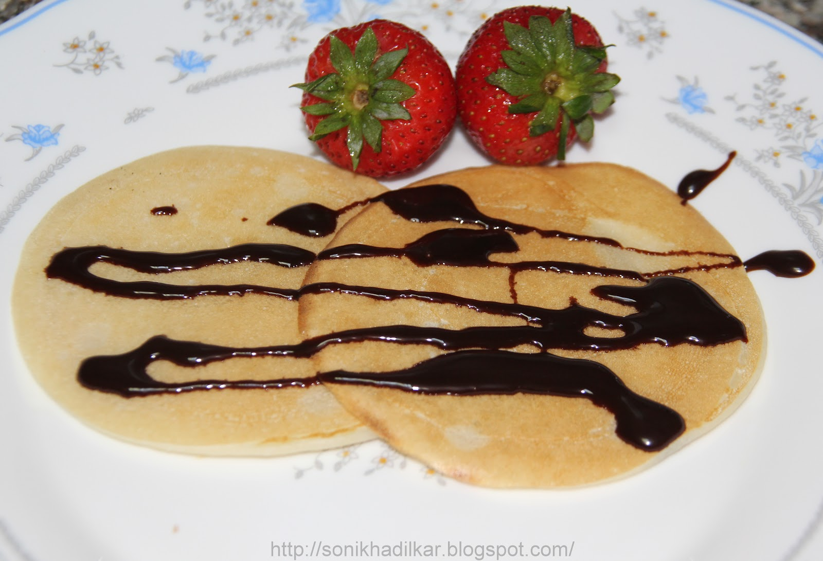 Double Chocolate Pancakes With Strawberry Sauce Recipes — Dishmaps