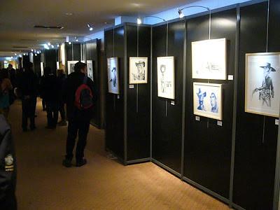 Exposition Wanted! à Quai des Bulles 2012 - Dessins de Jean-Marc Borot