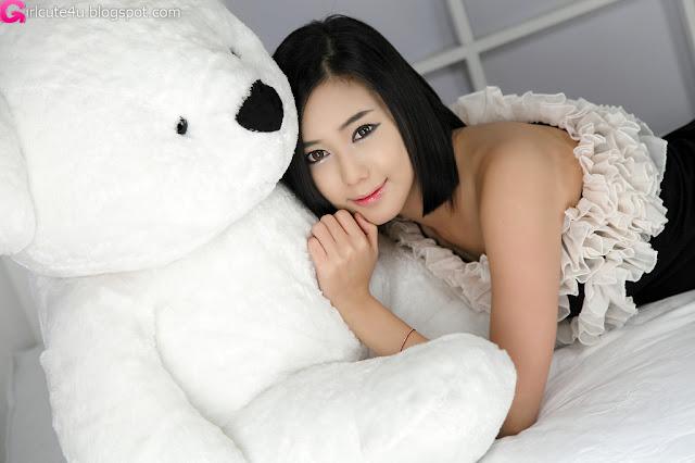 4 Kim Ha Yul - Ruffle Mini Dress-very cute asian girl-girlcute4u.blogspot.com