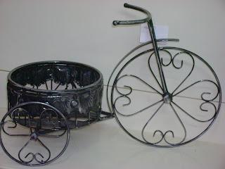Pin porta macetero bicicleta antigua hogar y jard n on - Bicicleta macetero ...