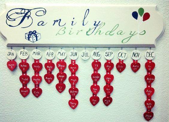 Календарь своими руками рождения