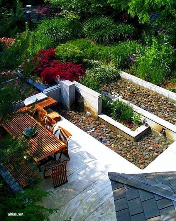Arquitectura de Casas: Casa y jardín integrados en una composición ...