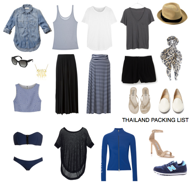 what to pack for taking a trip to Thailand