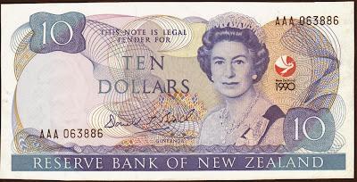Nuova Zelanda 10 dollars 1990 Commemorative issue P# 176
