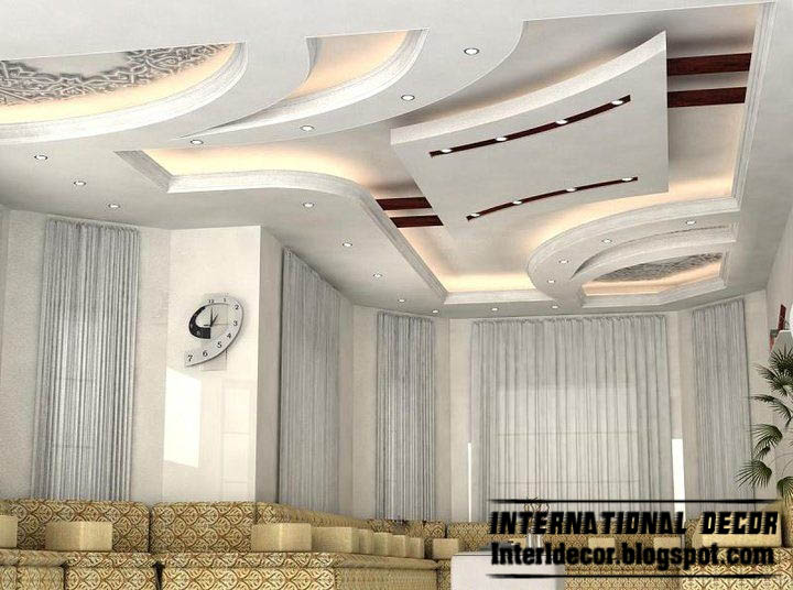 Suspended Ceiling Design Idea For Modern Living Room Interior Design