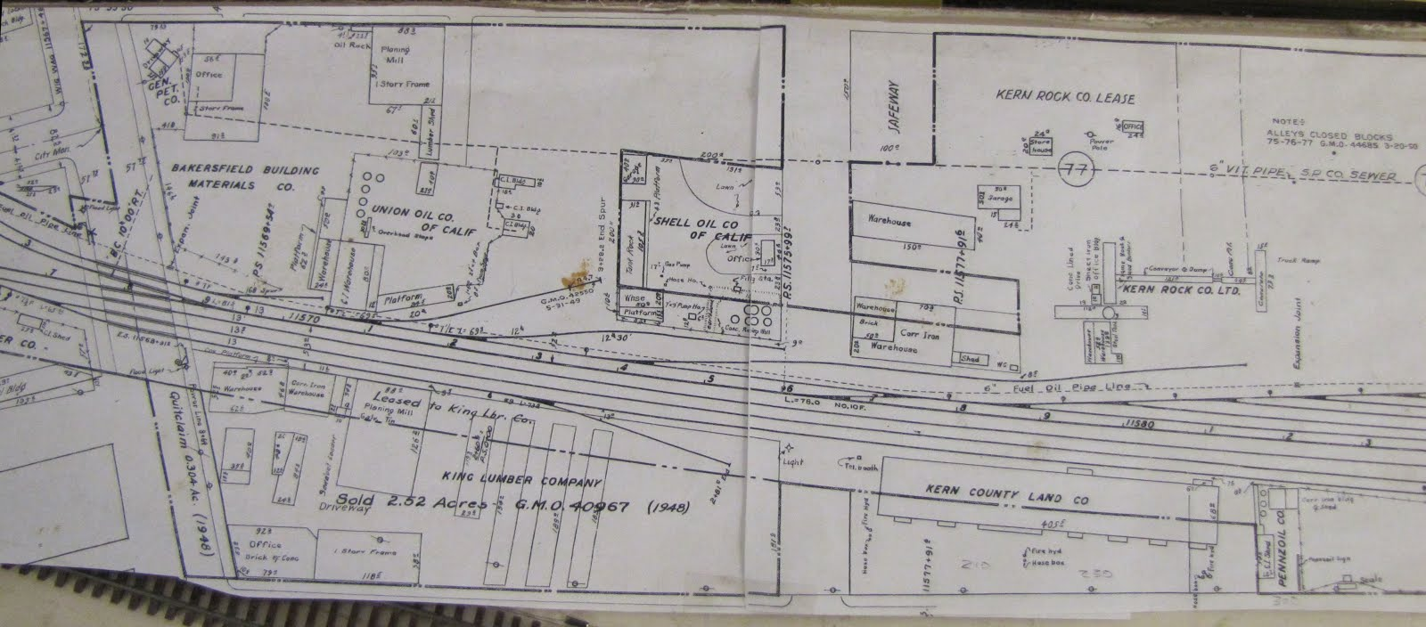 west bakersfield sacramento st vertically in the center of the drawing lmmrrc collection