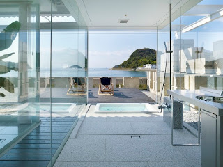 Casa de cristal interior