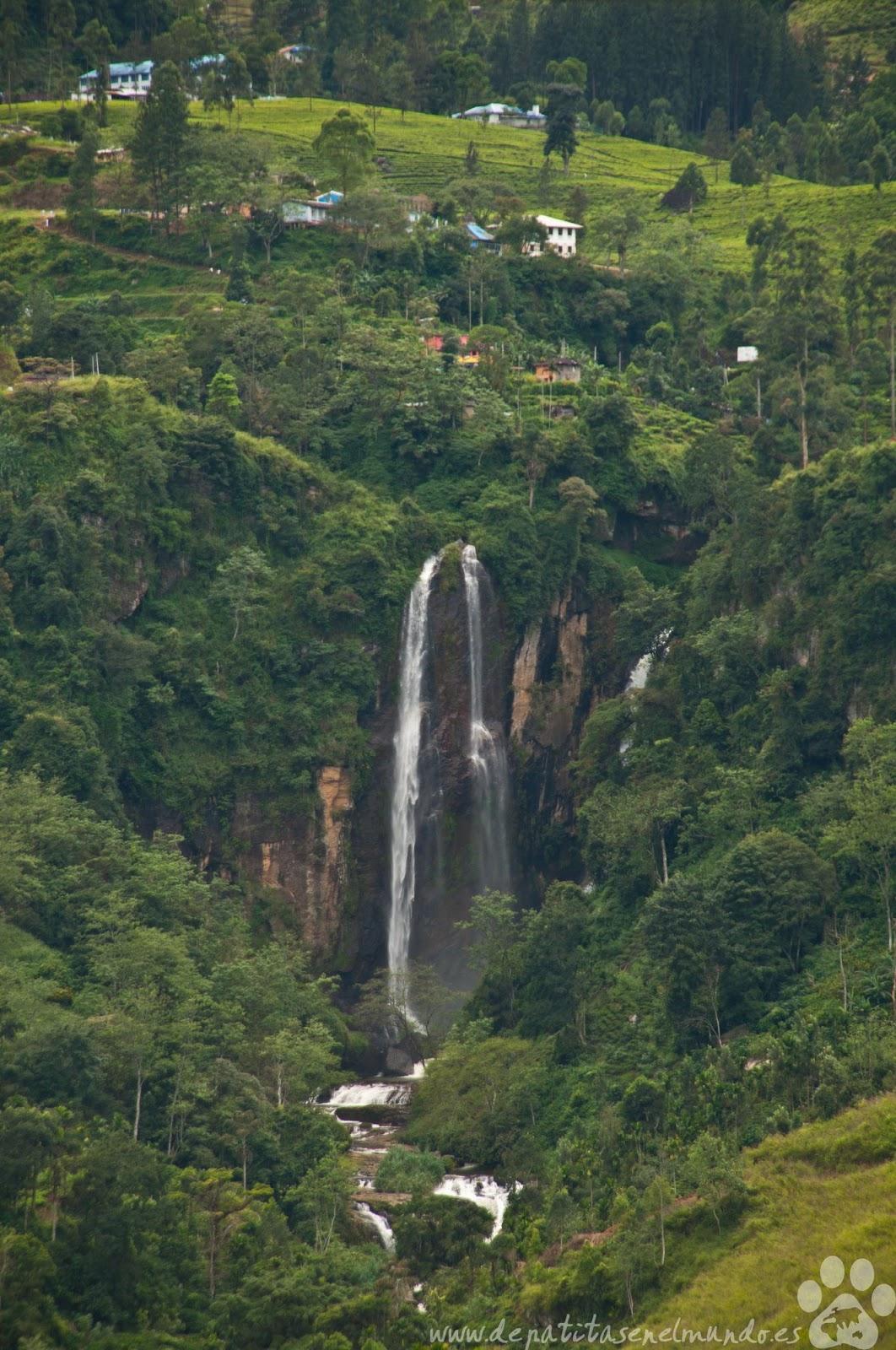 Ramboda Falls en Nuwara Eliya