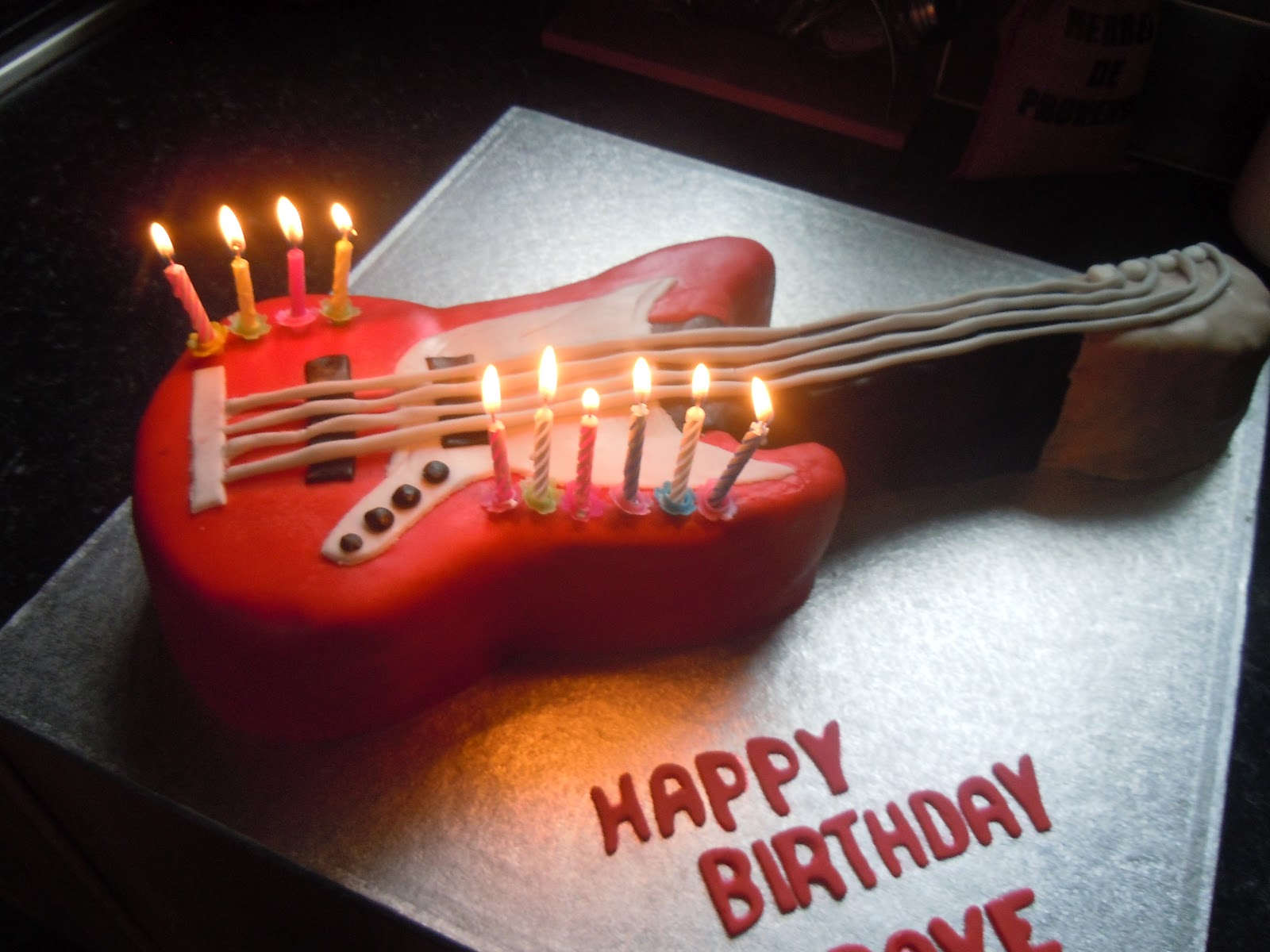 Birthday Cake Guitar Shape Guitar Cakes Decoration Ideas Little