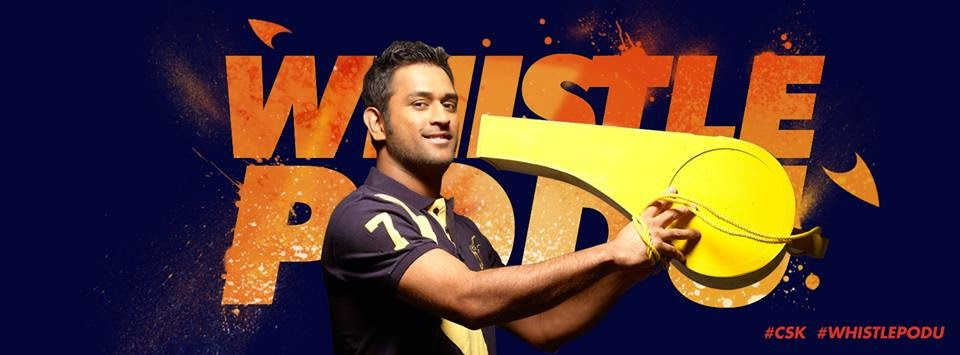 M.S Dhoni CSK Facebook Cover