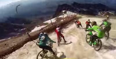 Αγώνας ποδηλάτου σε παγετώνα για έντονες συγκινήσεις