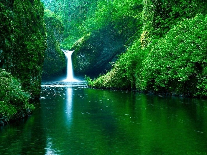 Green Mountain and Water Falls - God's own place
