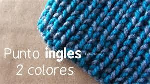 Como poder hacer bufanda de 2 colores
