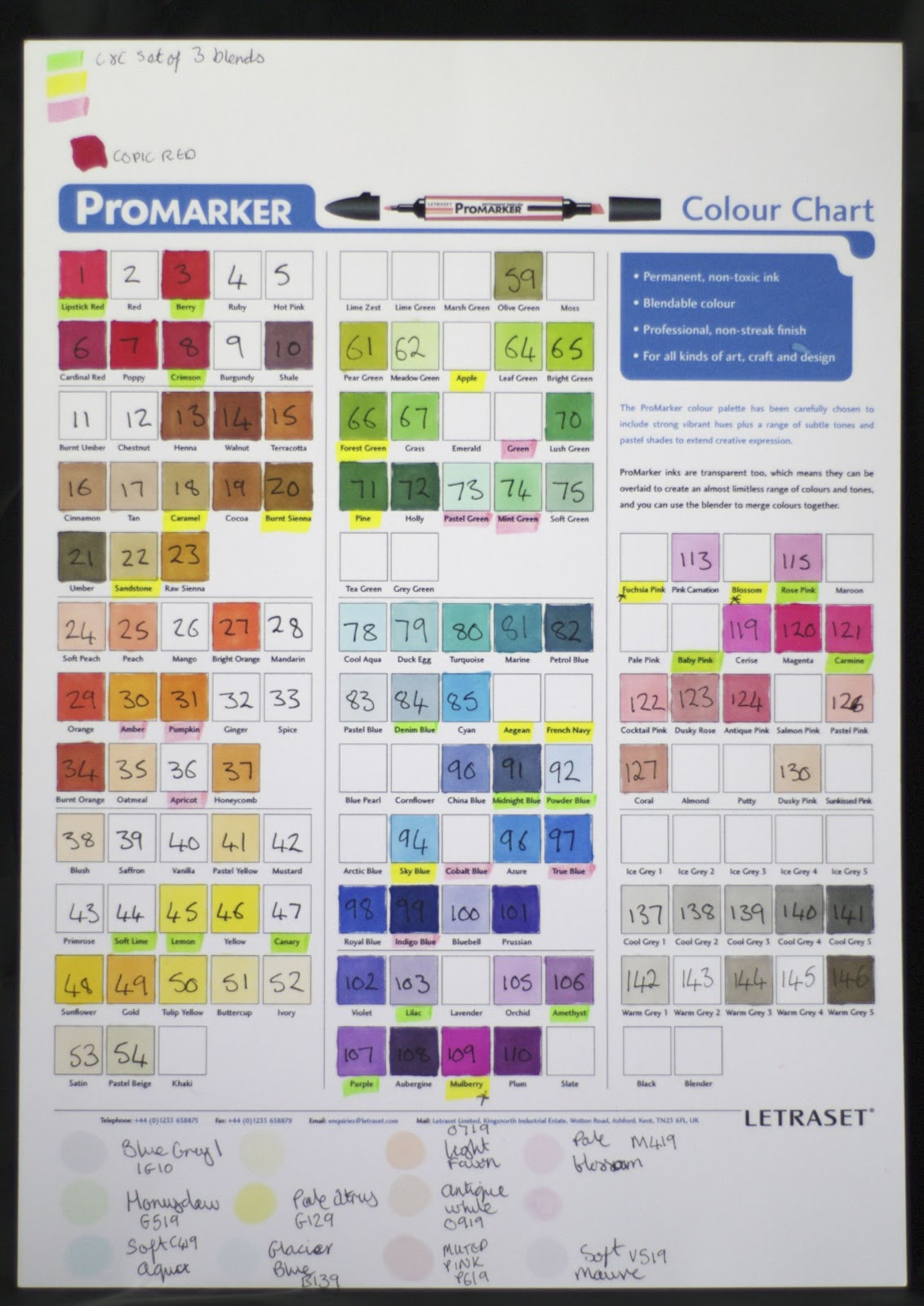 Lynnes crafty little blog promarker storage now i just look at the chart to see what colour i want nvjuhfo Choice Image