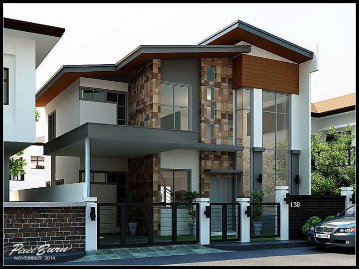 Two story modern villa design and all interior designs for Post modern home design