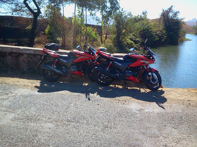 A bike ride to Pawana Lake on honda stunner