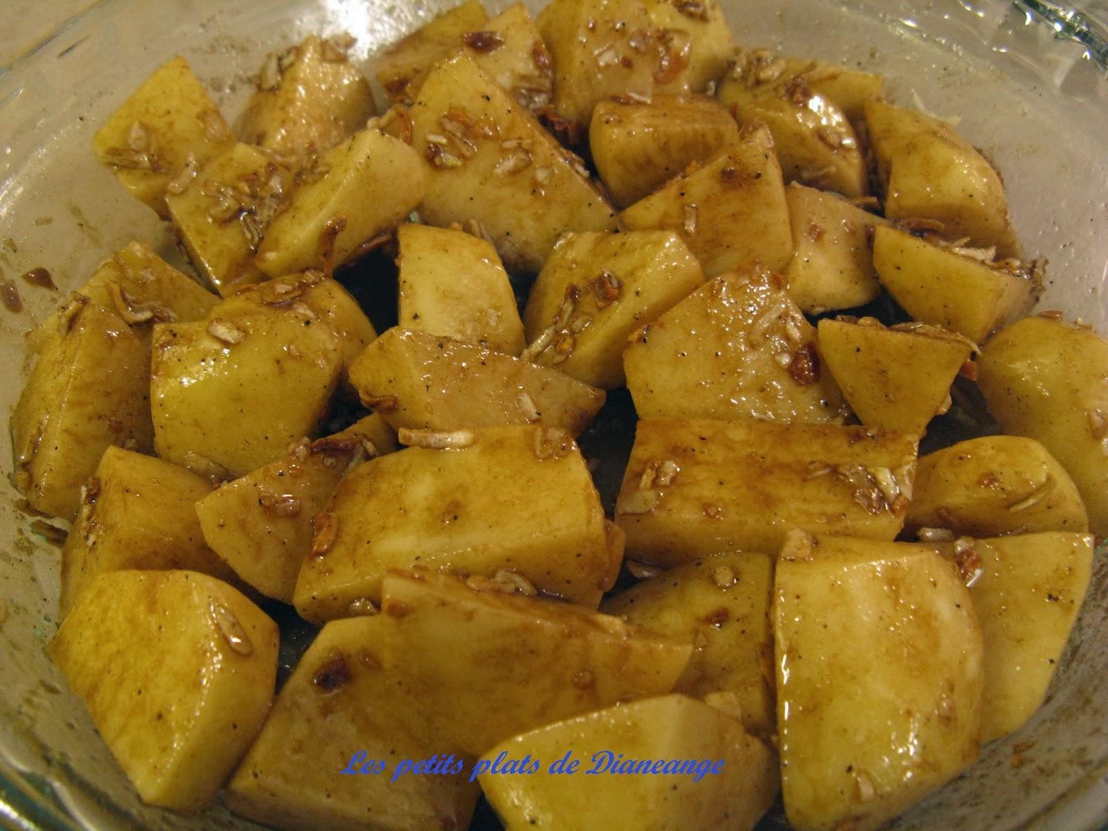 Les petits plats de diane ange pommes de terre l 39 oignon for Cuisson pommes de terre micro ondes sac plastique