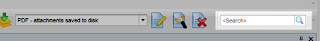 Quick search location in the Eml Viewer Pro toolbar
