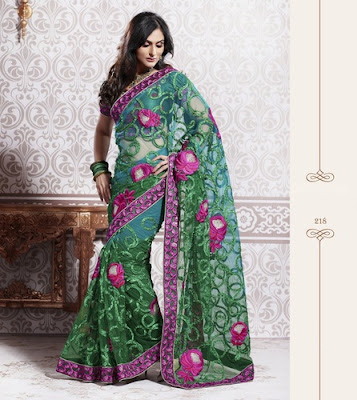 embroidery work and fancy sari