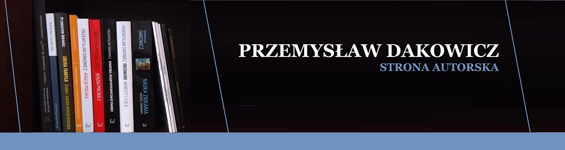 Przemysław Dakowicz - strona autorska
