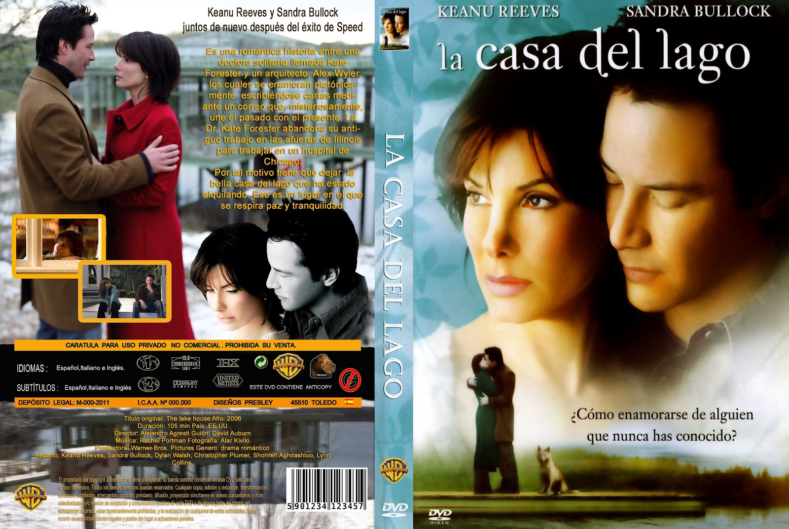 Peliculas dvd full la casa del lago the lake house - La casa del lago ...