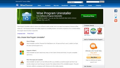 Wise Program Uninstaller, Uninstaller