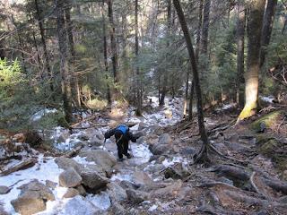 Heading Up Webster-Jackson Trail