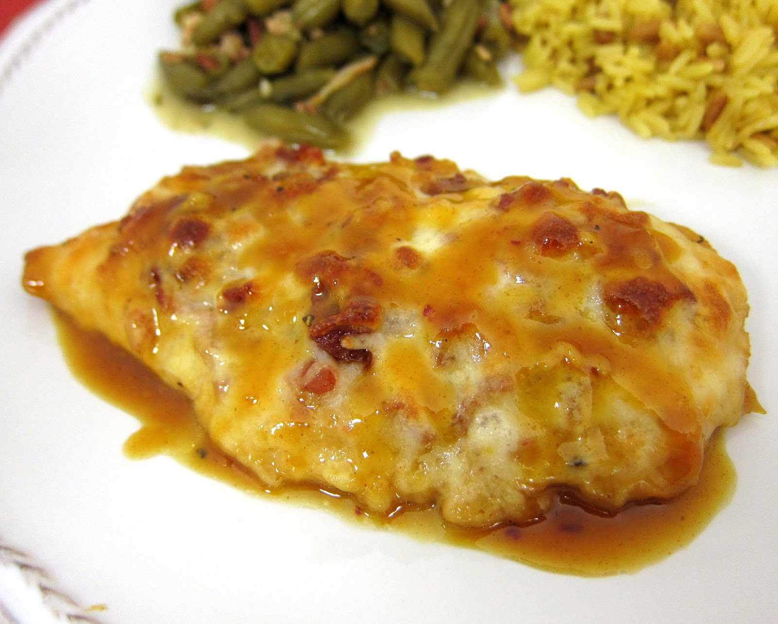 Honey Mustard Chicken - TO DIE FOR!!! Chicken topped with honey