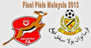 Keputusan Piala Malaysia Kelantan vs Pahang 3 November 2013