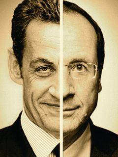Nicolas Sarkozy e François Hollande